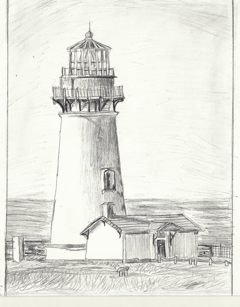 Drawn lighhouse landscape On Clip Free Drawing Lighthouse