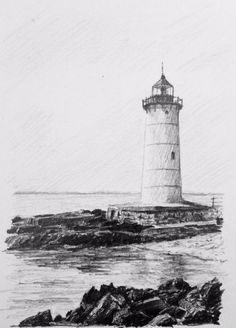 Drawn lighhouse landscape The in Davies' drawing Why