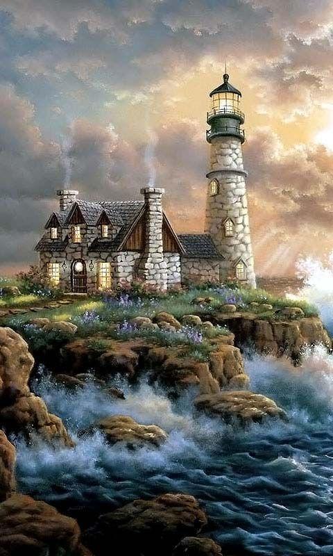 Drawn lighhouse landscape On Lighthouse for Lighthouse Best