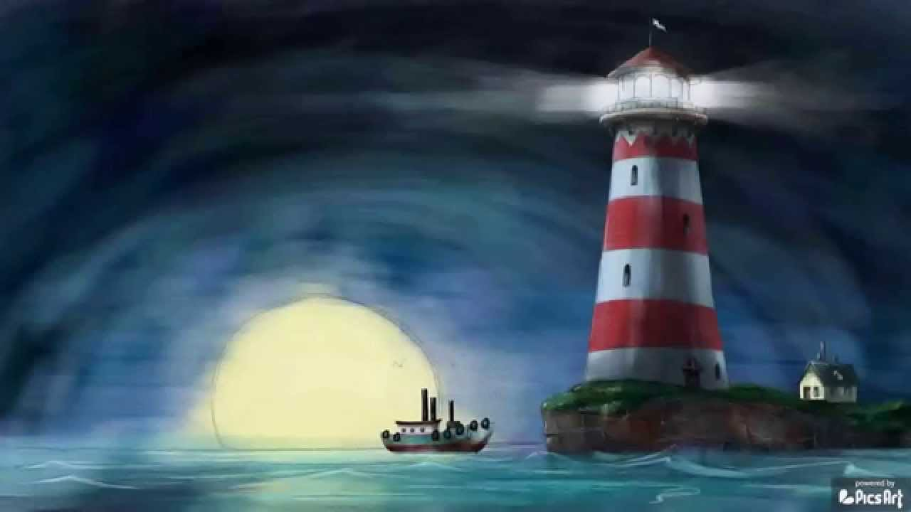 Drawn lighhouse landscape Drawing Art with Video Drawing
