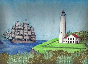 Drawn lighhouse landscape Drawing on Best Come by