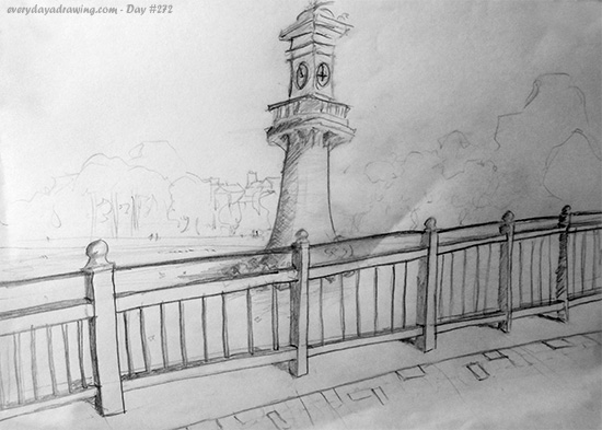 Drawn lighhouse landscape Drawing a Every Day lighthouse
