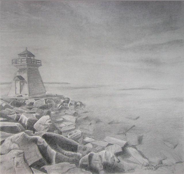 Drawn lighhouse landscape Best images facebook drawing lighthouse