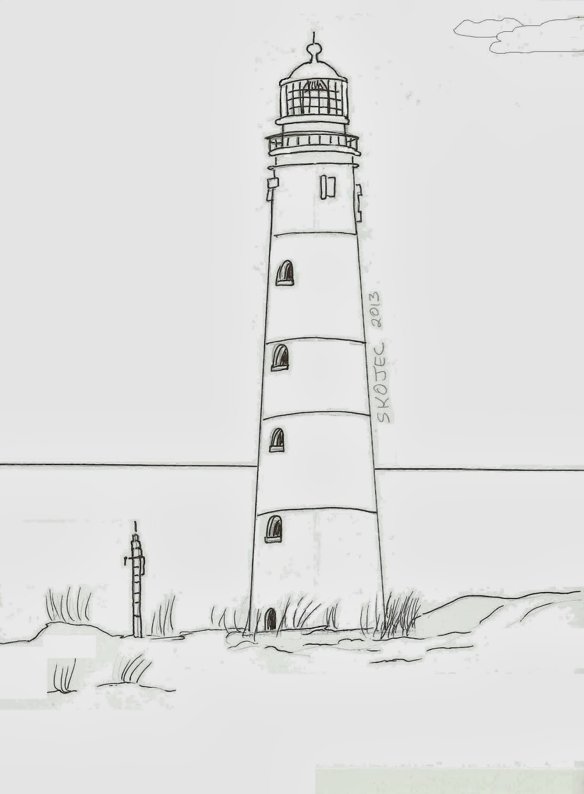 Drawn lighhouse line drawing Art Ideas a Draw a