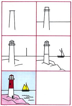 Drawn house little kid Art Lesson Lighthouse to Lighthouse