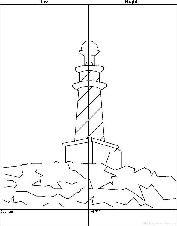 Drawn night basic Drawing The  Coloring Worksheets