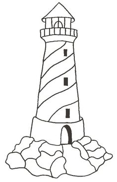 Drawn lighhouse outline Pages print Miscellaneous lighthouse