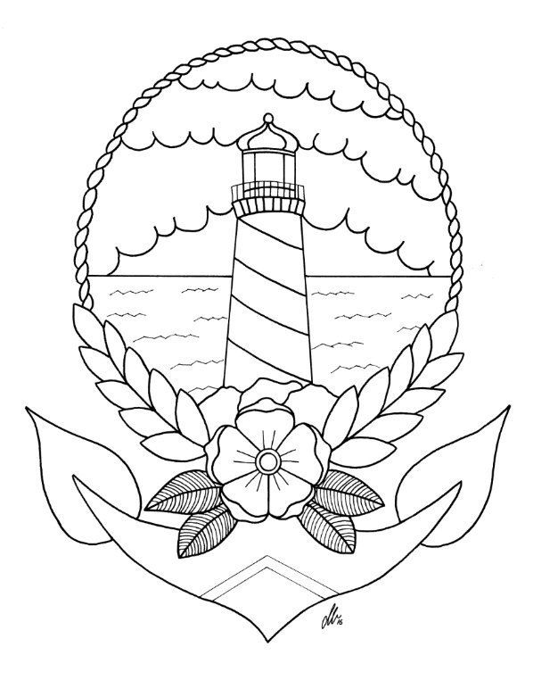 Drawn lighhouse outline Tattoos Page Lighthouse The on