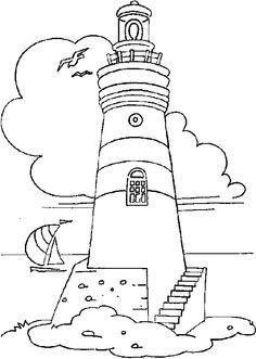Drawn lighhouse outline Light for lighthouse  lighthouse
