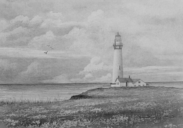 Drawn sea pencil drawing A — Lighthouse Lessons Online