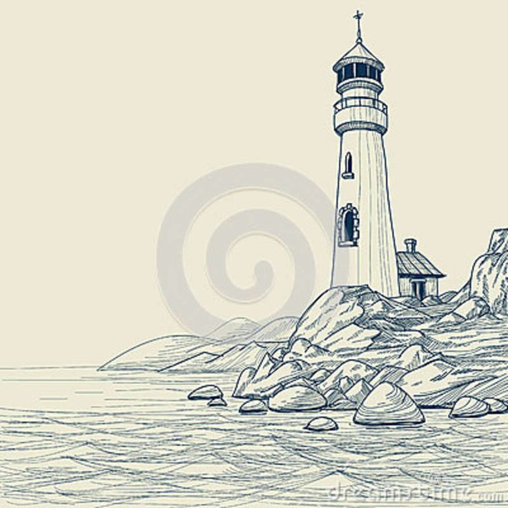 Drawn lighthouse #2