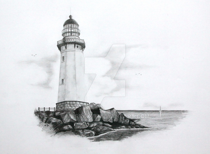 Drawn lighthouse #9
