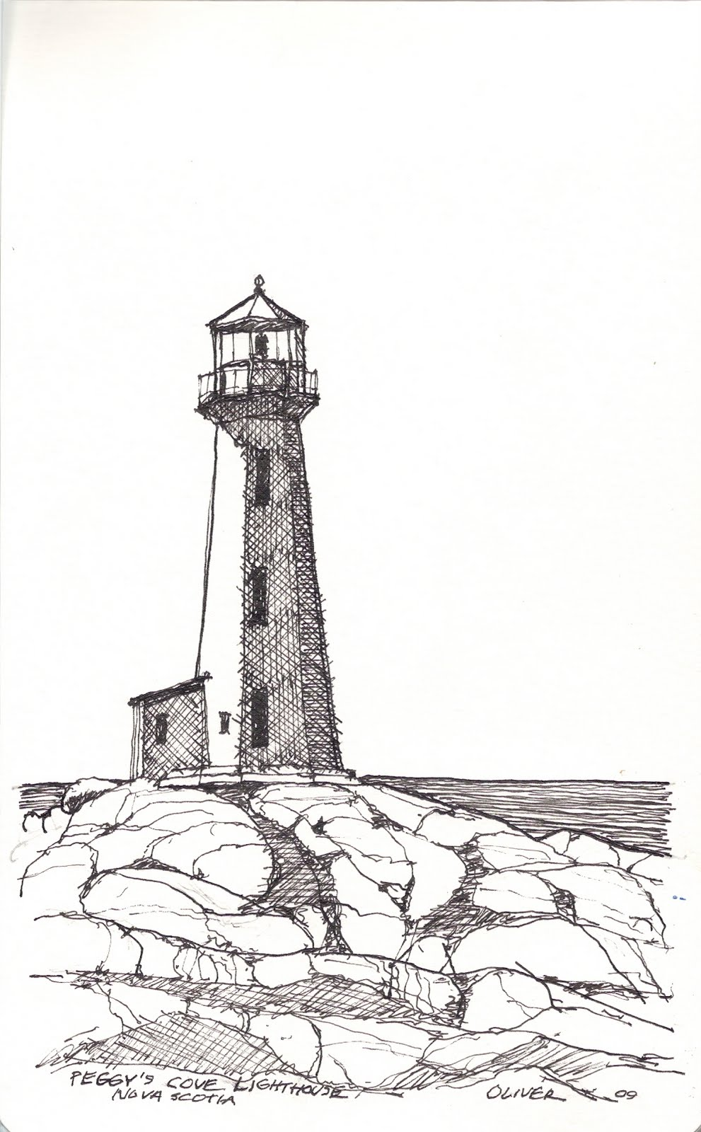 Drawn lighthouse #11