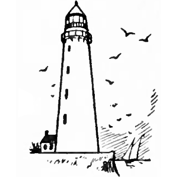 Drawn lighthouse #6