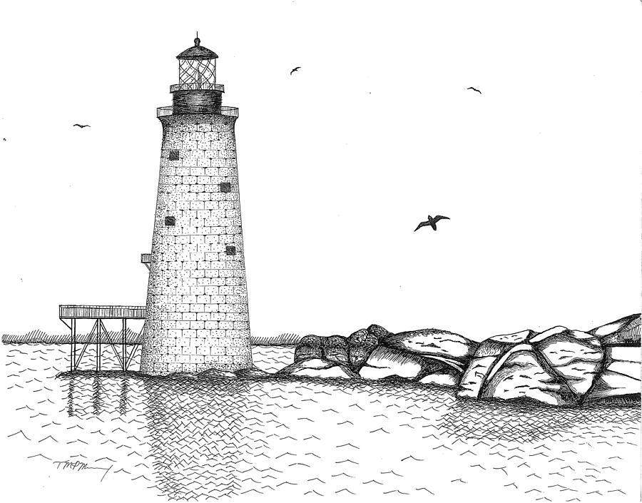 Drawn lighthouse #10