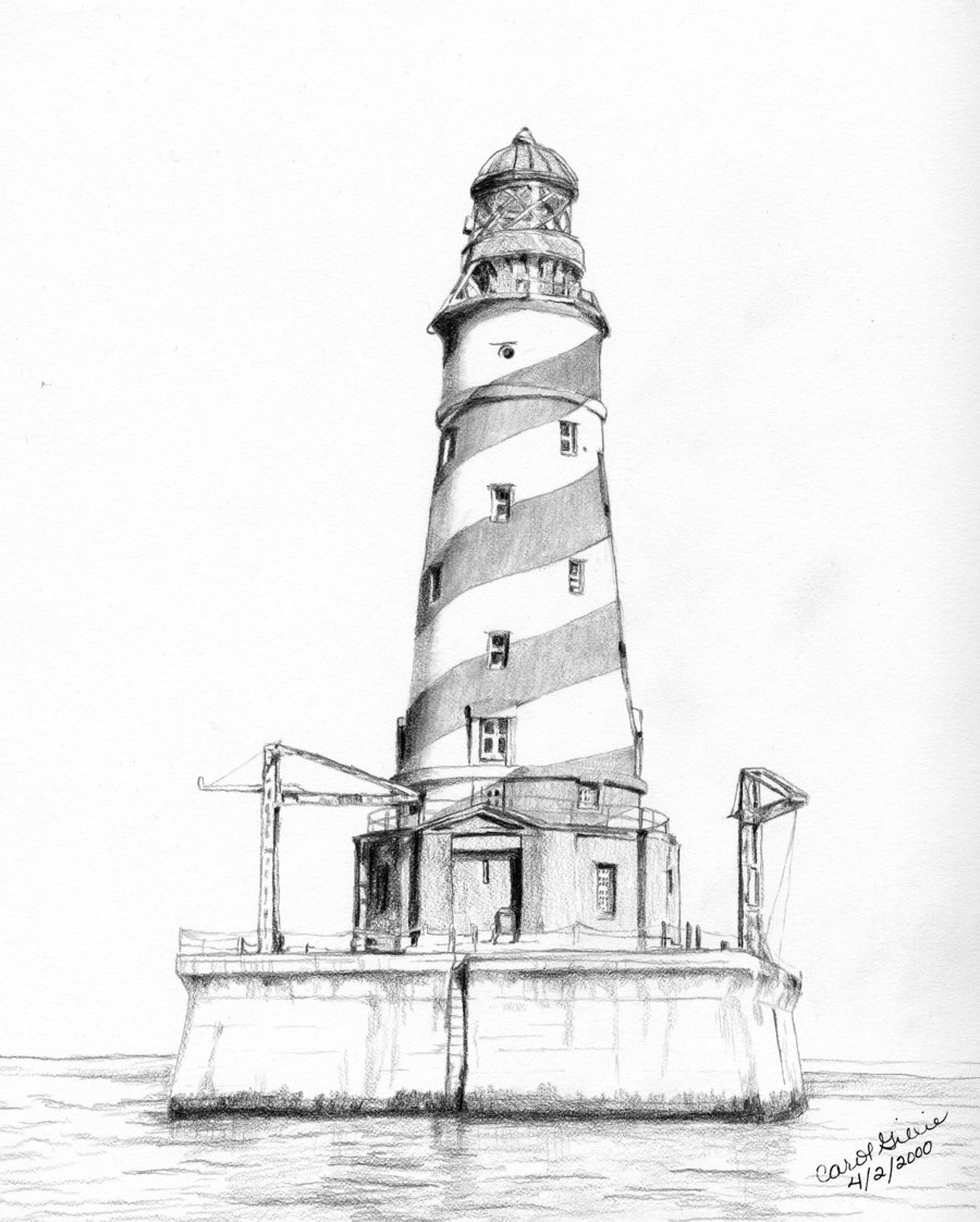 Drawn lighthouse #12