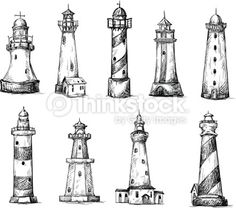 Drawn lighthouse #13