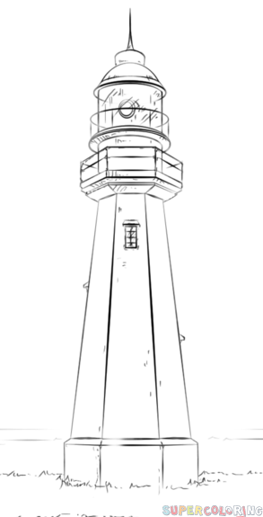 Drawn lighthouse #14