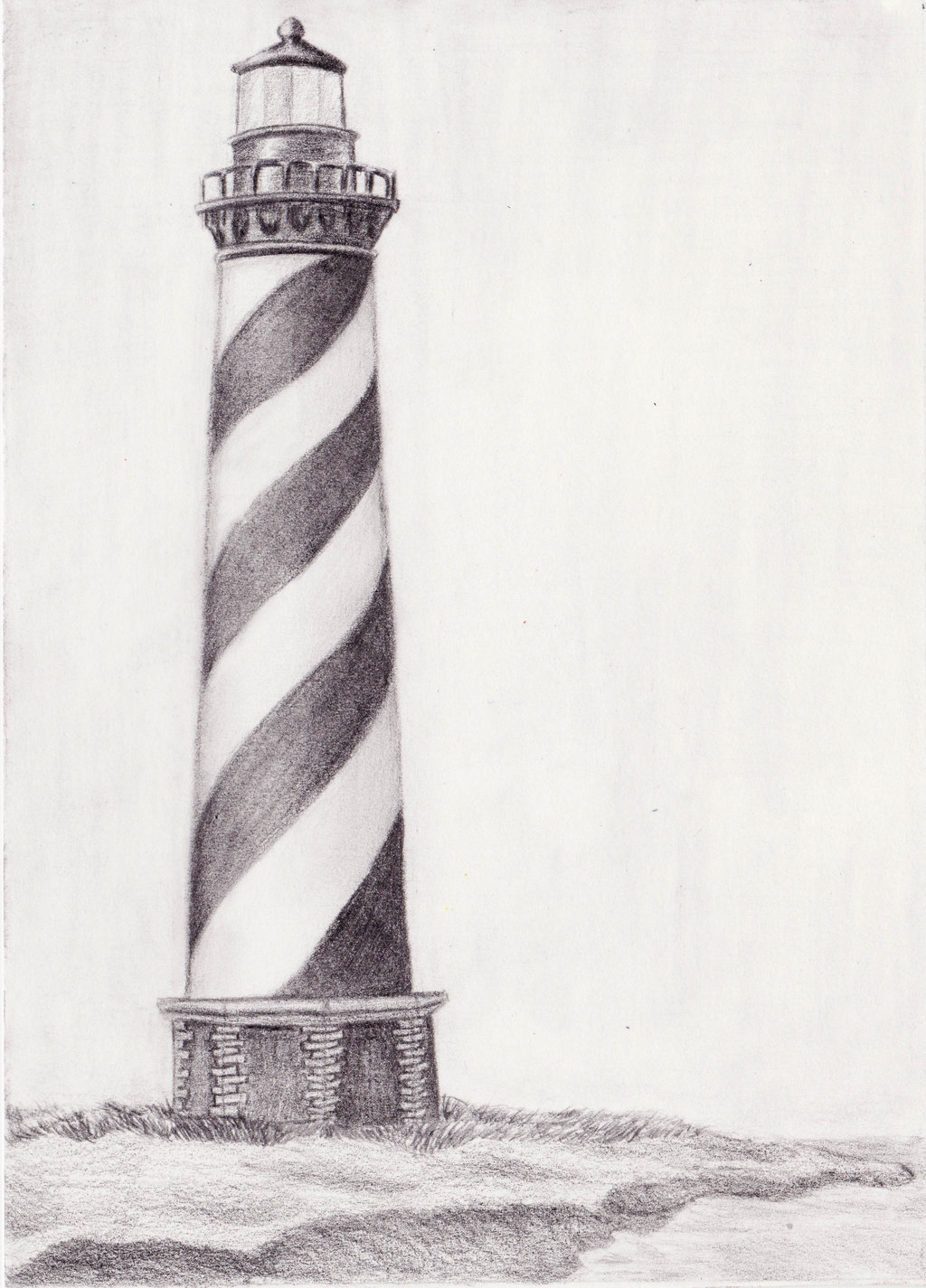 Drawn lighthouse #5