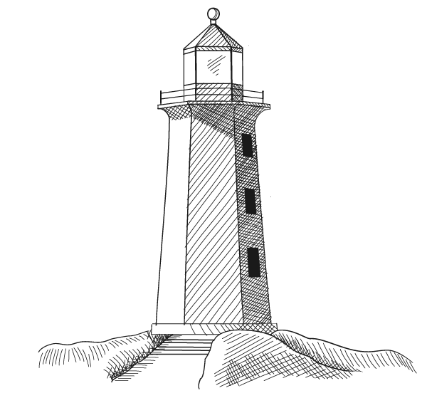 Drawn lighthouse #7
