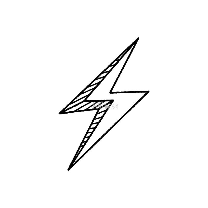 Drawn lightning Mhea lightning by Hand bolt