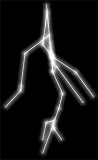 Drawn lightning Branch lightning new the the