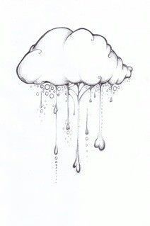 Drawn rain pencil drawing Cloud Drawing Lightning Cloud Lightning