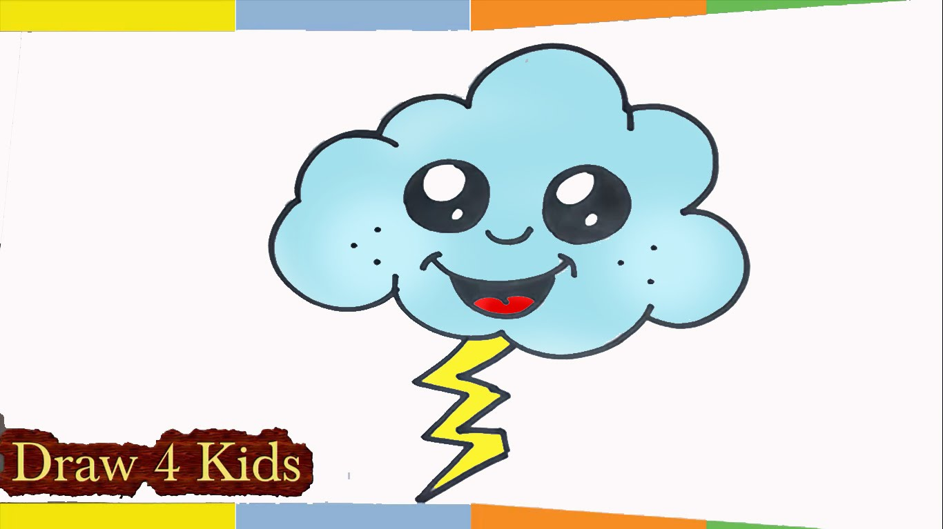 Thunder clipart cute Lightning to thunder to Cloud
