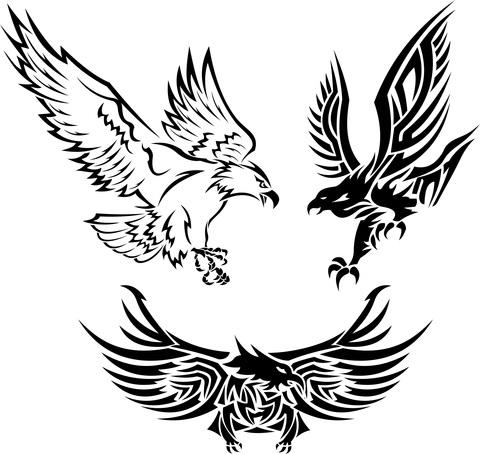 Drawn smoke eagle And tattoo Tattoo tribal 35