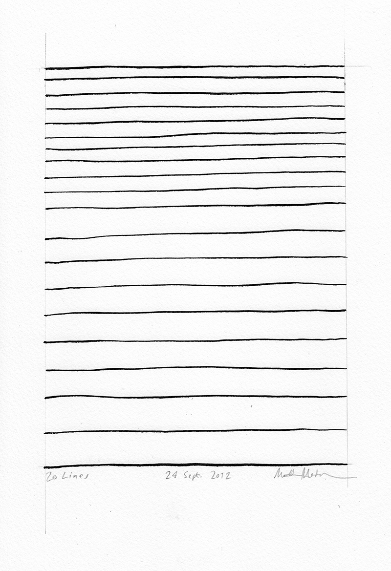 Drawn line (archive): Lines recently blog project