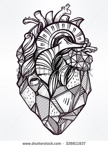 Drawn line art Highly stone template Line Pinterest