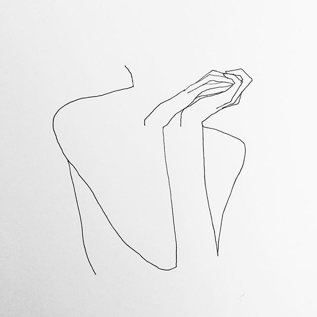 Drawn line art Drawing line on 'Woman Forest