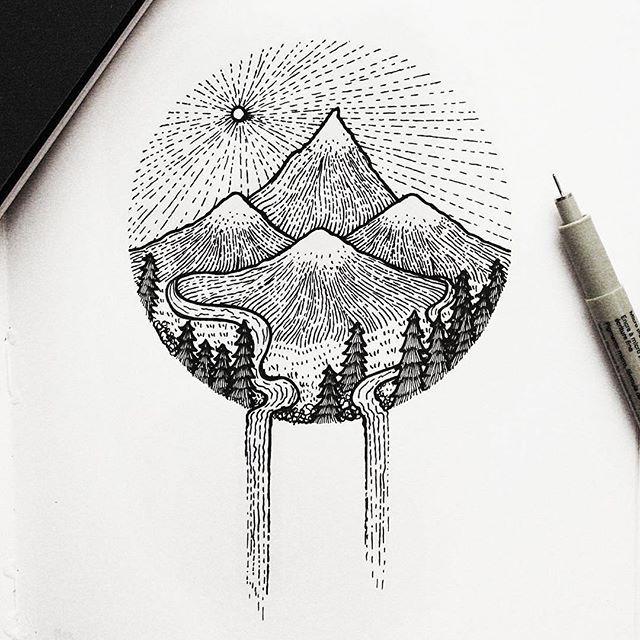 Drawn line art Best 25+  ideas Line