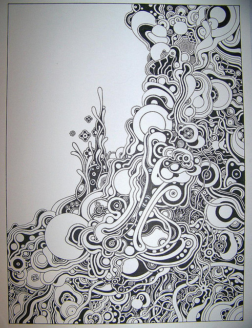 Drawn swirl random Doodles line each and Note