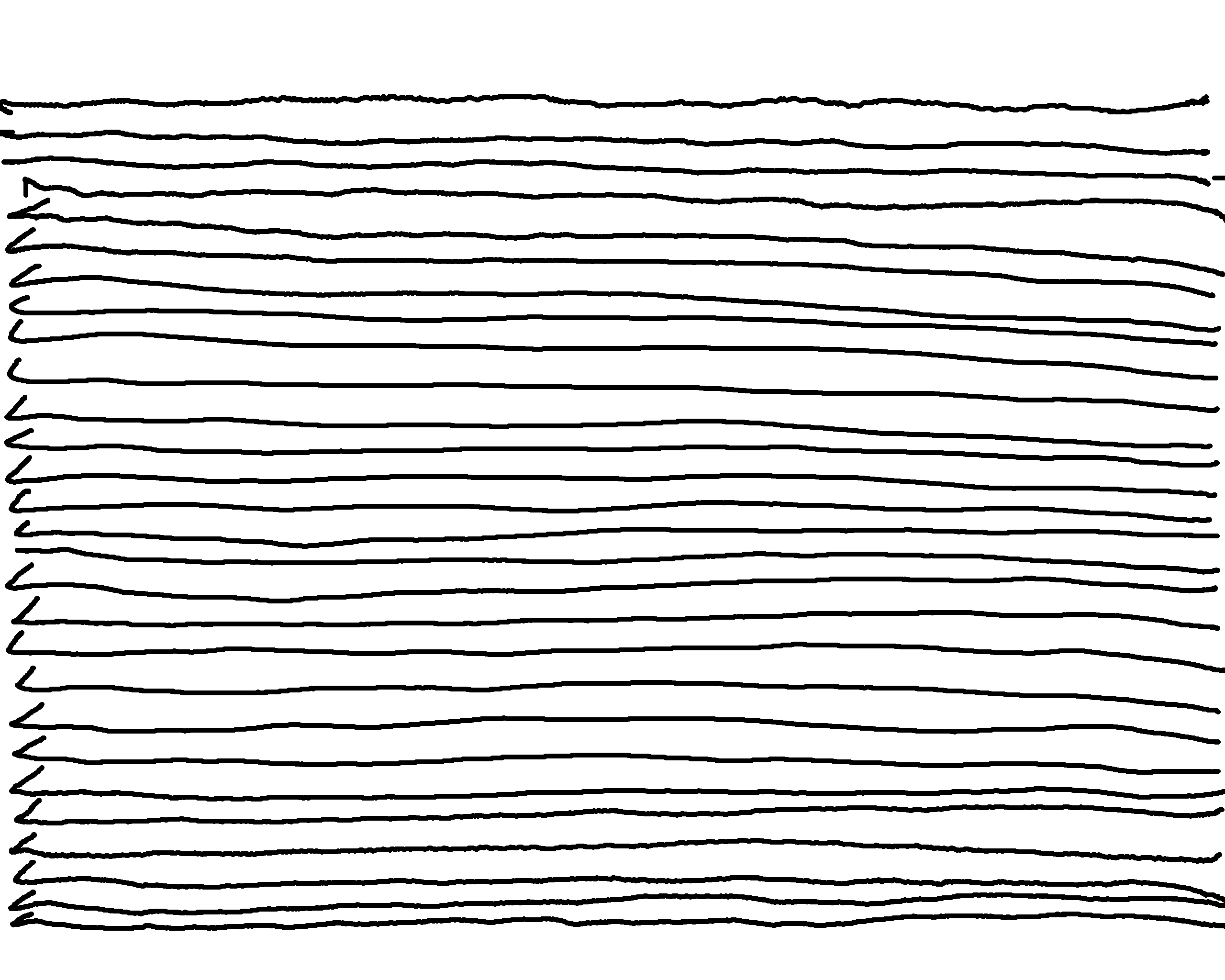 Drawn lines To heard hand front hand