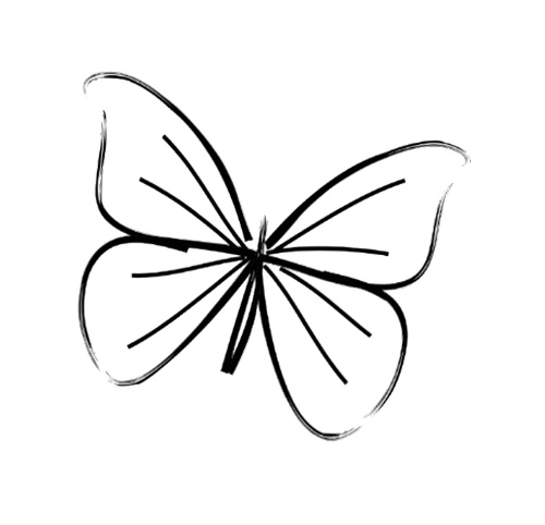 Drawn butterfly simple  Tattoo Drawing Pinterest Simple