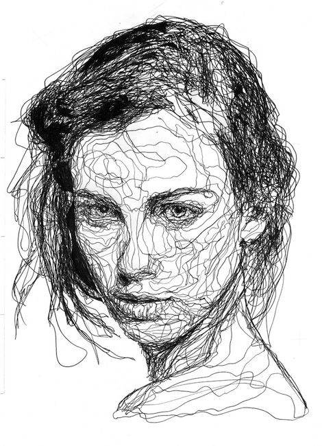 Drawn portrait line drawing The drawing page Drawing is