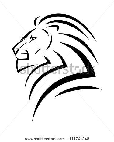 Drawn simple lion Lion tattoo on Simple vector