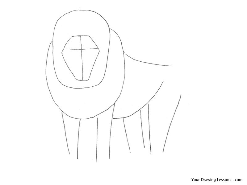 Drawn lion straight line Guidelines Now A has that