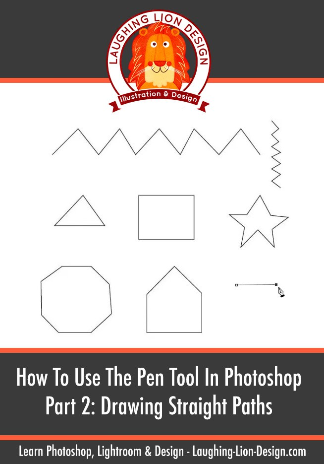 Drawn lion straight line Pen 2 Guide  Tool