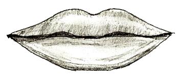 Drawn lips 5 Draw by step lips