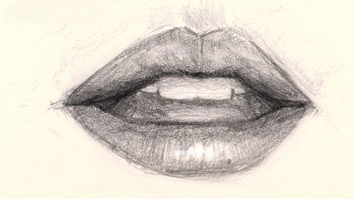 Drawn photos mouth How drawing tutorials drawing online