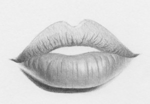 Drawn lips To steps How 10 draw