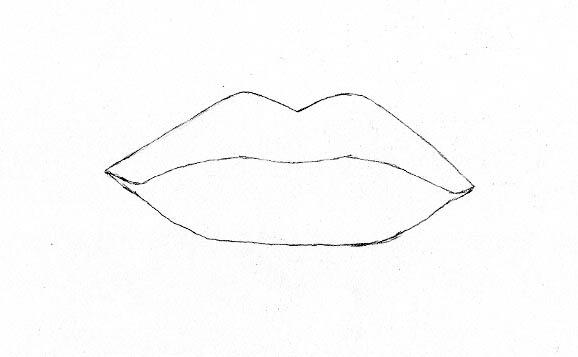 Drawn lips How  Lips Realistic 00