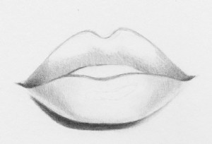 Drawn lips How easy RapidFireArt 7 lips