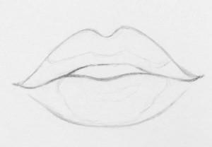 Drawn lips How easy RapidFireArt 6 lips