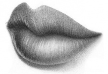 Drawn lips 3/4 – easy the from