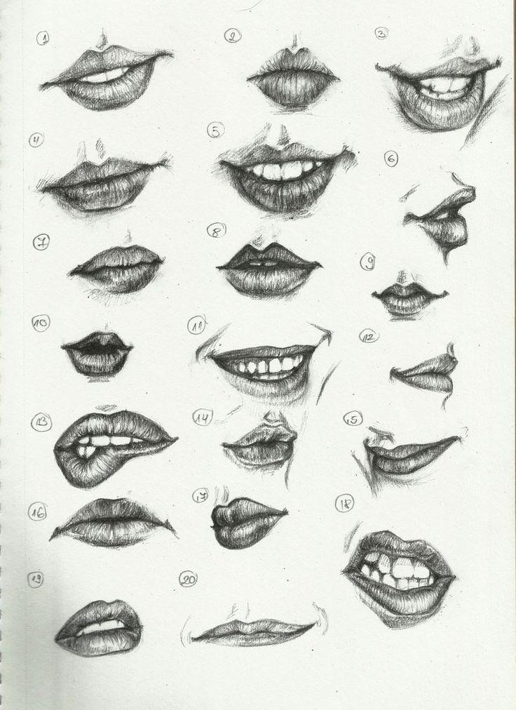 Drawn lips Draw lips on to lips