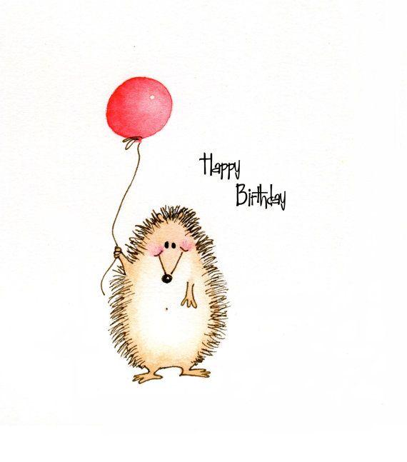 Drawn hedgehog happy birthday Birthday Cute best 50 223