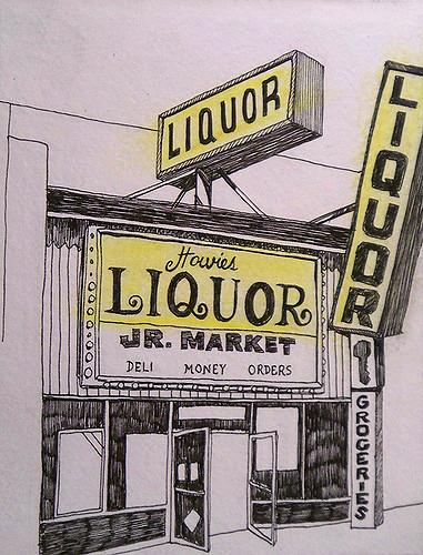 Drawn liquor Howies 10/06/07 by Paper michaelrubin